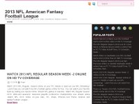 2013 NFL American Fantasy Football League Week-2 .