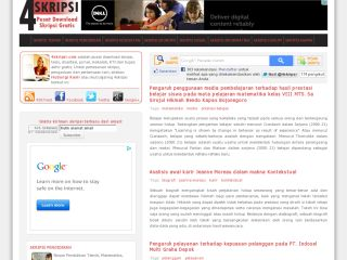 4Skripsi | Pusat download skripsi Indonesia gratis