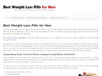 Best Weight Loss Pills for Men