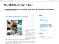 New Hotels and Travel blog