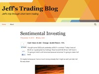 Jeff's Trading Blog | Jeff's trip through short term trading