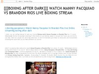 Watch Manny Pacquiao Vs Brandon Rios live Online