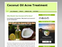 Coconut Oil Acne Treatment