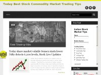 Today Best Stock Commodity Market Trading Tips