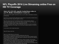 NFL Playoffs 2014 Live Streaming online Free on HD