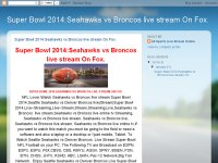 Super Bowl 2014:Seahawks vs Broncos live stream On Fox.