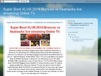 Super Bowl XLVIII 2014:Broncos vs Seahawks live streaming Online TV.