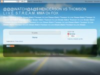 @@@WATCH@&@$ HENDERSON VS THOMSON L.I.V.E. S.T.R.E