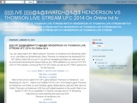 {{{{{LIVE }}}}}@&@$WATCH@&@$ HENDERSON VS THOMSON LIVE STREAM UFC 2014 On Online hd tv