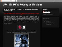 UFC 170 Live on PPV Rousey vs. McMann