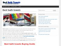 Best bath towels Consumer guide
