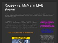 Live UFC 170- Live Rousey vs McMann Watch live Stream