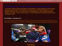 Timothy Bradley Jr vs Manny Pacquiao Live Stream B