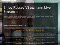 Enjoy Rousey VS Mcmann Live Stream