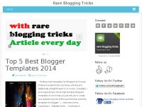 rare blogging tricks