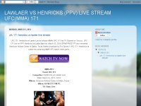 LAWLAER VS HENRICKS (PPV) LIVE STREAM UFC(MMA) 171