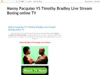 Manny Pacquiao VS Timothy Bradley Live Stream Boxing online TV