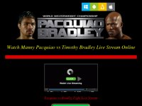 Pacquiao Vs Bradley Live Streaming PPV HBO boxing