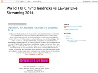WaTcH UFC 171:Hendricks vs Lawler Live Streaming 2014.