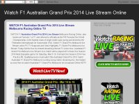 Watch F1 Australian Grand Prix 2014 Live Stream