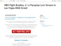 HBO Fight-Bradley Jr vs Pacquiao Live Stream in Las Vegas MGM Grand