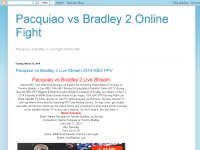 Pacquiao vs Bradley 2 Online Fight