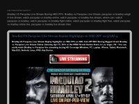 Bradley VS Pacquiao Live Stream Boxing HBO PPV