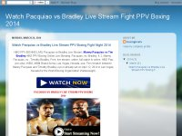 Watch Pacquiao vs Bradley Live Stream Fight PPV Bo
