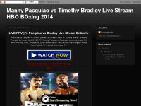 Manny Pacquiao vs Timothy Bradley Live Stream HBO