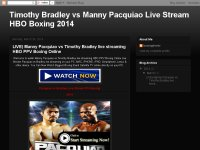 Timothy Bradley vs Manny Pacquiao Live Stream HBO