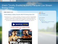 Watch Timothy Bradley vs Manny Pacquiao Live Strea
