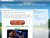 Watch Pacquiao vs Bradley HBO PPV Boxing Live Stre