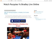 Watch Pacquiao Vs Bradley Live Online