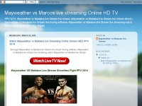Mayweather vs Marcos live streaming Online HD TV