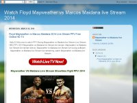 Watch Floyd Mayweather vs Marcos Maidana live Stre