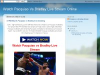 Watch Pacquiao Vs Bradley Live Stream Online