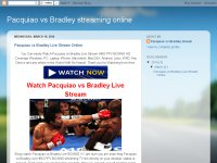 Pacquiao vs Bradley streaming online
