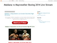 Maidana vs Mayweather Boxing 2014 Live Stream