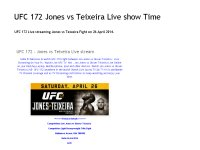 UFC 172 - Jones vs Teixeira Live stream