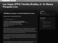 HBO:Manny Pacquiao vs Timothy Bradley live boxing