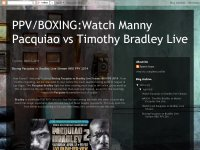 Boxing Pacquiao vs Bradley Live Stream HBO PPV 201