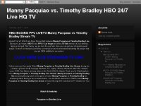 HBO BOXING PPV LIVETV:Manny Pacquiao vs Timothy Br