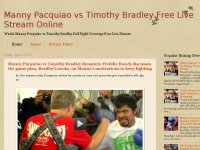 Manny Pacquiao vs Timothy Bradley Free Live Stream Online
