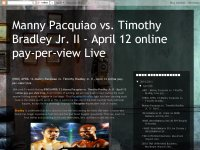 (HBO) APRIL 12:Manny Pacquiao vs. Timothy Bradley