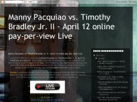Manny Pacquiao vs. Timothy Bradley Jr. II - April