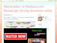 Mayweather vs Maidana Live Stream ppv boxing