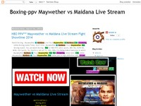 Boxing-ppv Maywether vs Maidana Live Stream