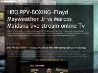 HBO PPV-BOXING=Floyd Mayweather Jr vs Marcos Maida