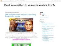 Floyd Mayweather Jr. vs Marcos Maidana live Tv