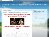 Showtime PPV Boxing:Mayweather vs Maidana Live Stream 2014.